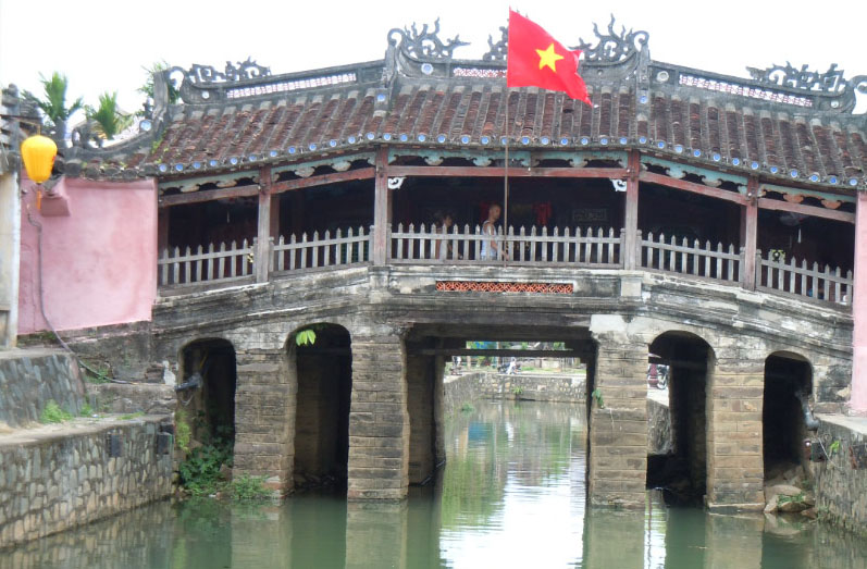 400 year old bridge in Hoi An, Vietnam