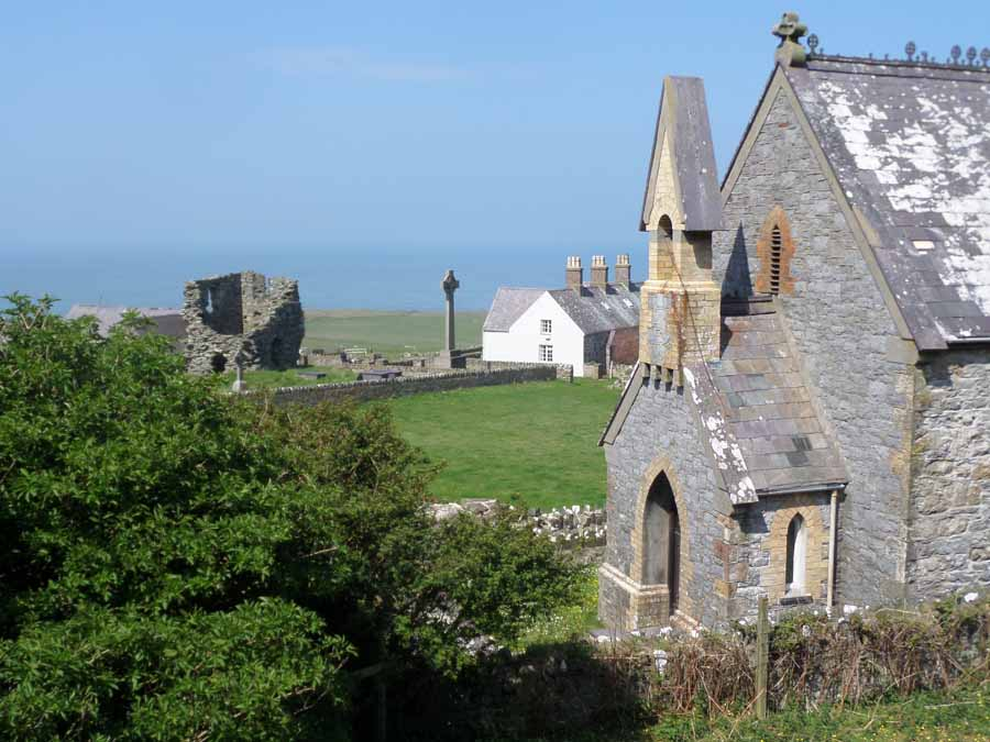 Bardsey Chapel and Abbey remains